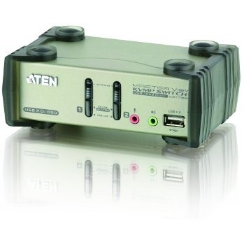 Switch KVM ATEN CS1732B 2-Port USB 2.0 KVMP Switch OSD, 2x USB Cables, 2-port Hub, Audio