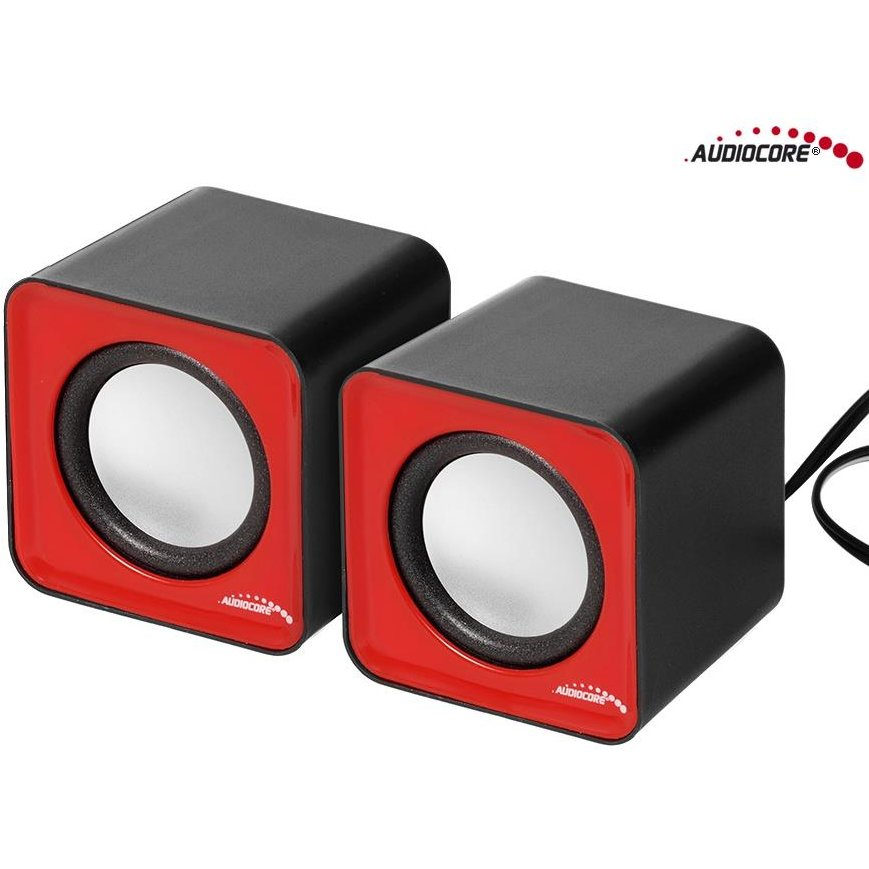 Audiocore AC870R Computer speakers 6W USB Red&Black