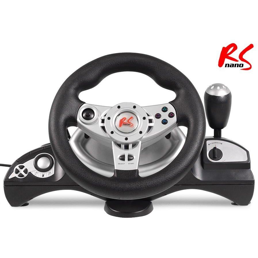 NanoRS RS600 Racing Steering Wheel PS3/PS2/PC(D-INPUT/X-INPUT)