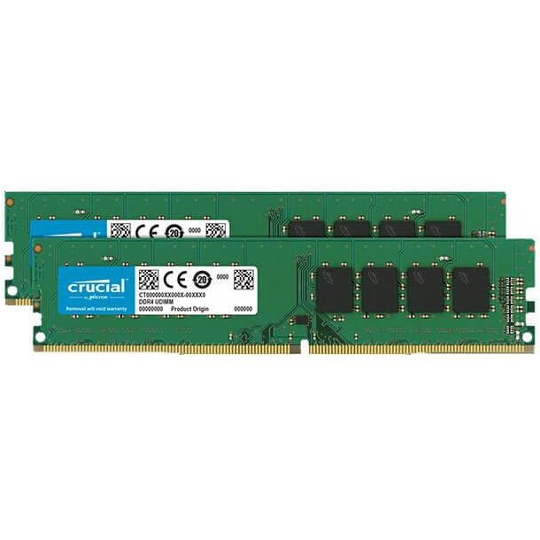 Memorie Crucial 2x8GB 2666MHz DDR4 CL19 Unbuffered DIMM