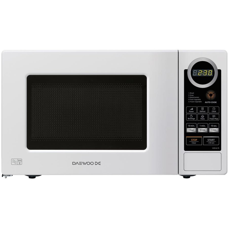 Cuptor cu microunde Microwave oven Daewoo KOR6S2DBW | 20L | 800W | Electronic | White