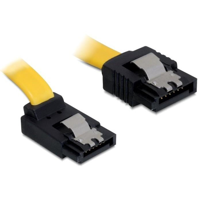 Delock Cable SATA 20cm up/straight metal yellow