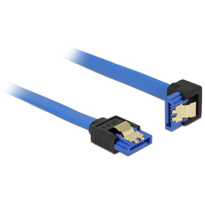 Delock Cable SATA 6 Gb/s receptacle straight>receptacle downwards angled 50cm