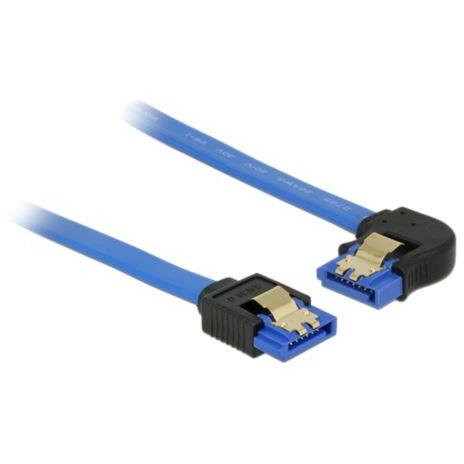 Delock Cable SATA 6 Gb/s receptacle straight>receptacle left angled 50cm