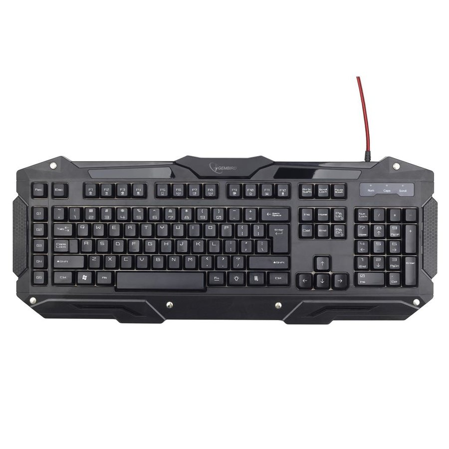 Tastatura Gembird Programmable gaming keyboard USB, US layout, black