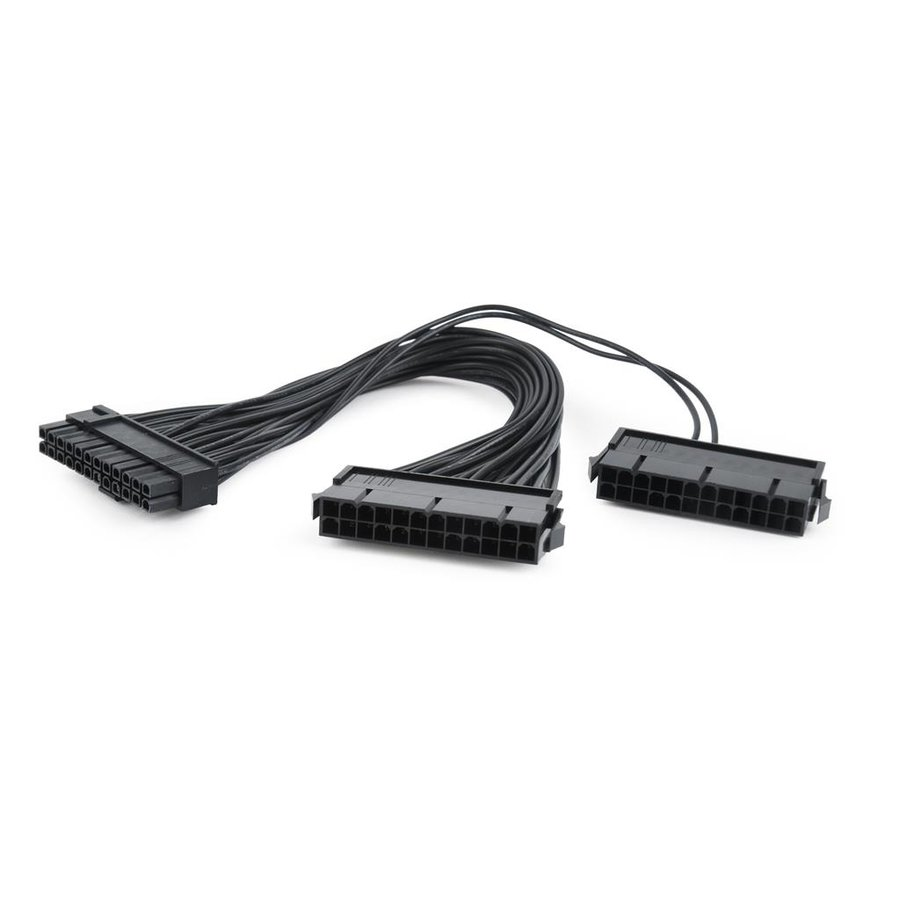 Gembird dual 24-pin internal PC power extension cable, 0.3m
