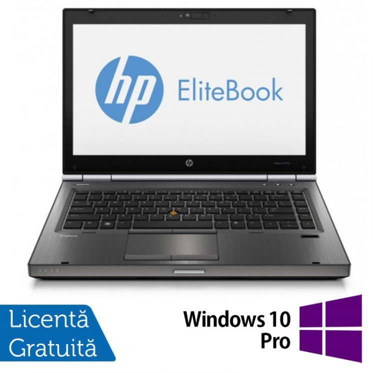Laptop Refurbished HP EliteBook 8470P, Intel Core i5-3360M, 2.80 GHz, 8GB DDR3, 320GB SATA, DVD-RW, Webcam + Windows 10 Pro