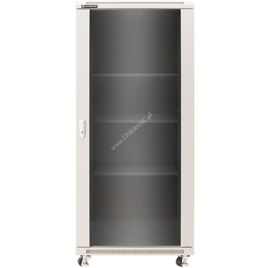 Linkbasic rack cabinet 19'' 42U 600x1000mm gri (smoky-gray glass front door)