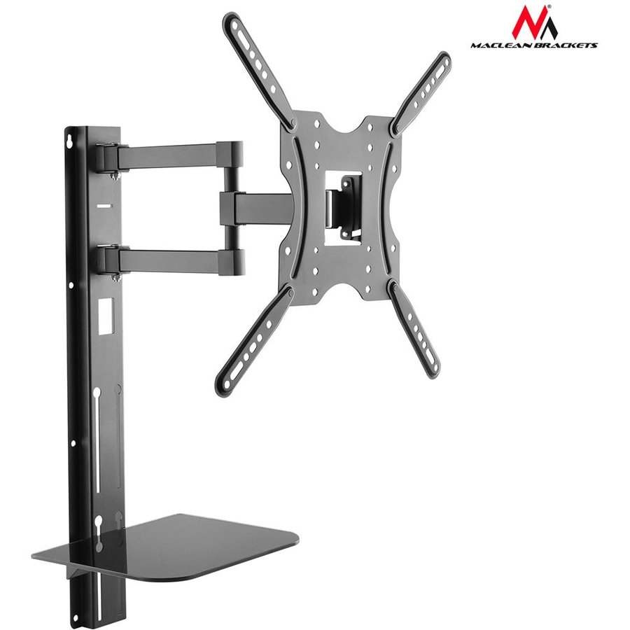Maclean MC-772 TV bracket 32'' - 55'' with DVD tray 30kg VESA 400x400