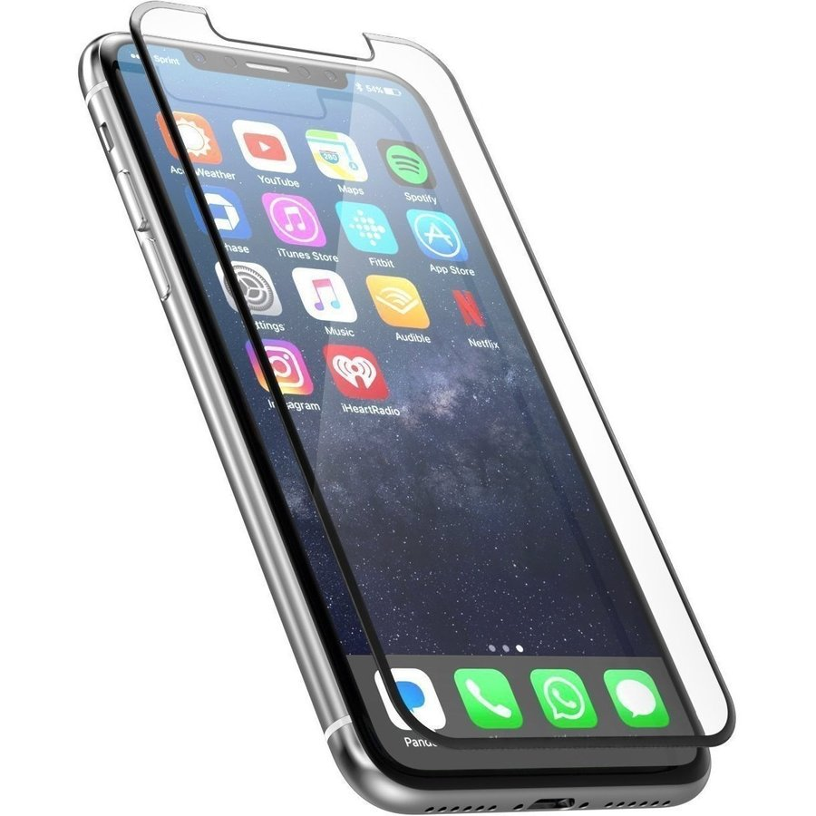 Folie sticla securizata tempered glass iPhone 5 / 5S Silver - set complet