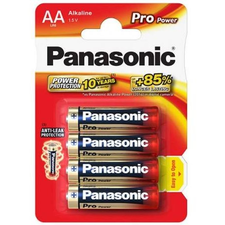 Panasonic Pro Power Alkaline battery LR6/AA, 4 Pcs, Blister