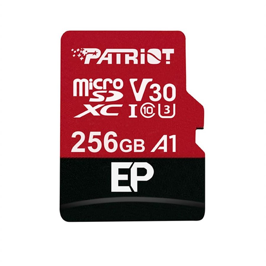 Card memorie Patriot EP Series 256GB MICRO SDXC V30, up to 100MB/s