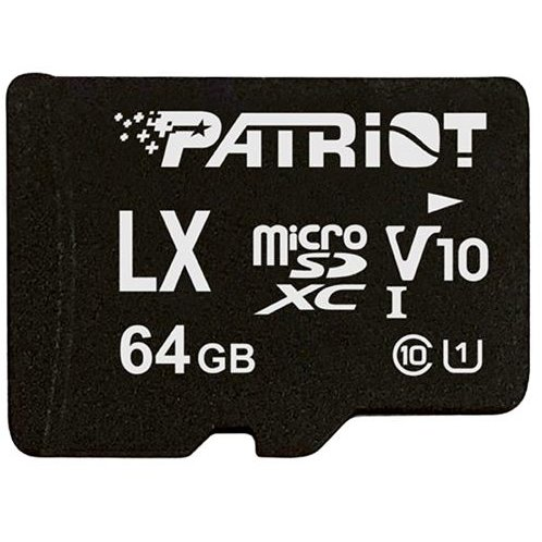 Card memorie Patriot LX Series 64GB UHS-1 C10 V10 up to 90MB/s