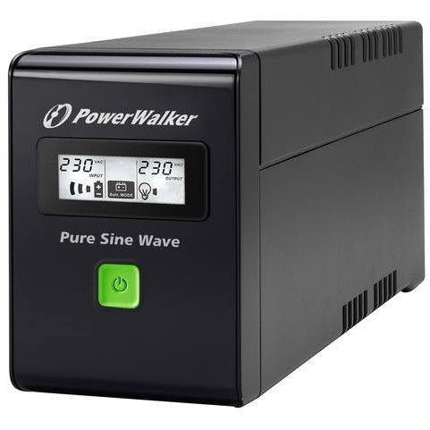 UPS Power Walker Line-Interactive 600VA 2x PL 230V, PURE SINE, RJ11/RJ45,USB,LCD
