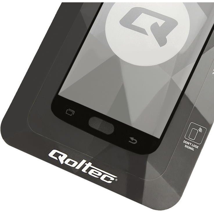 Qoltec Tempered Glass Screen Protector for Nokia 7 Plus 3D BLACK Full covered