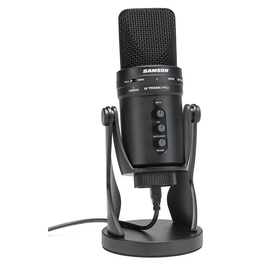 Microfon SAMSON G-Track USB PRO Condenser Microphone with Audio Interface and mixer