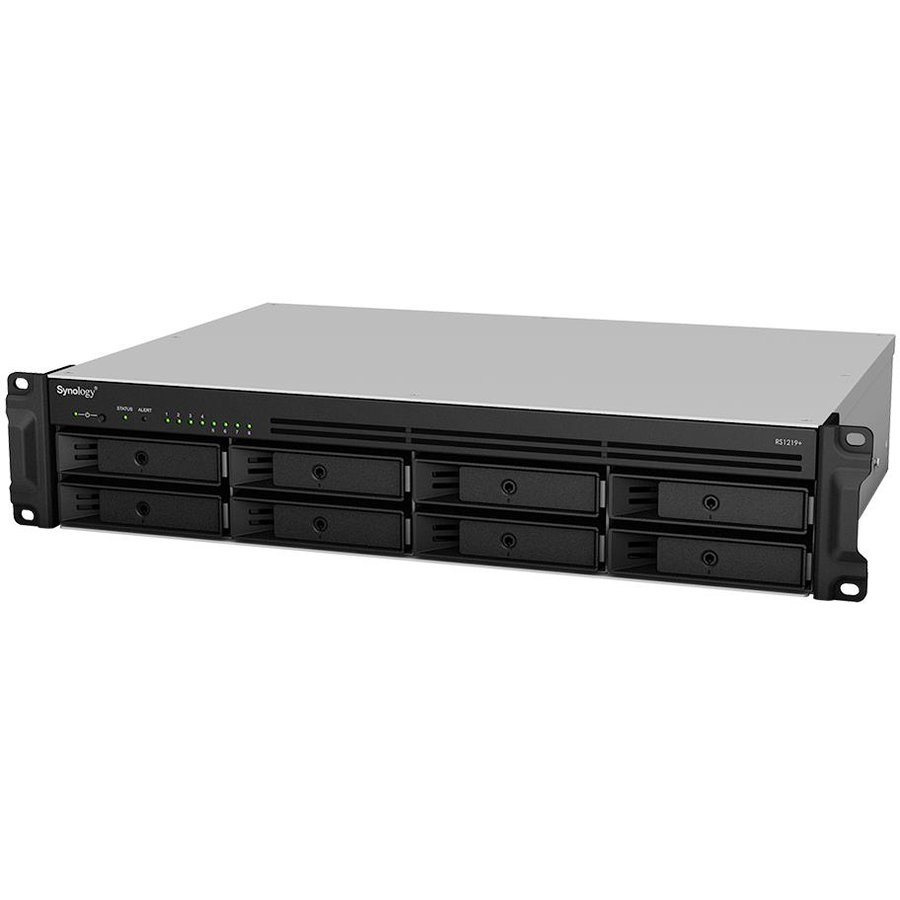 NAS Synology RS1219+, 8-Bay, 4C 2,4GHz, 2GB, 4xGbE LAN, 2xUSB3.0, 1xPower Supply