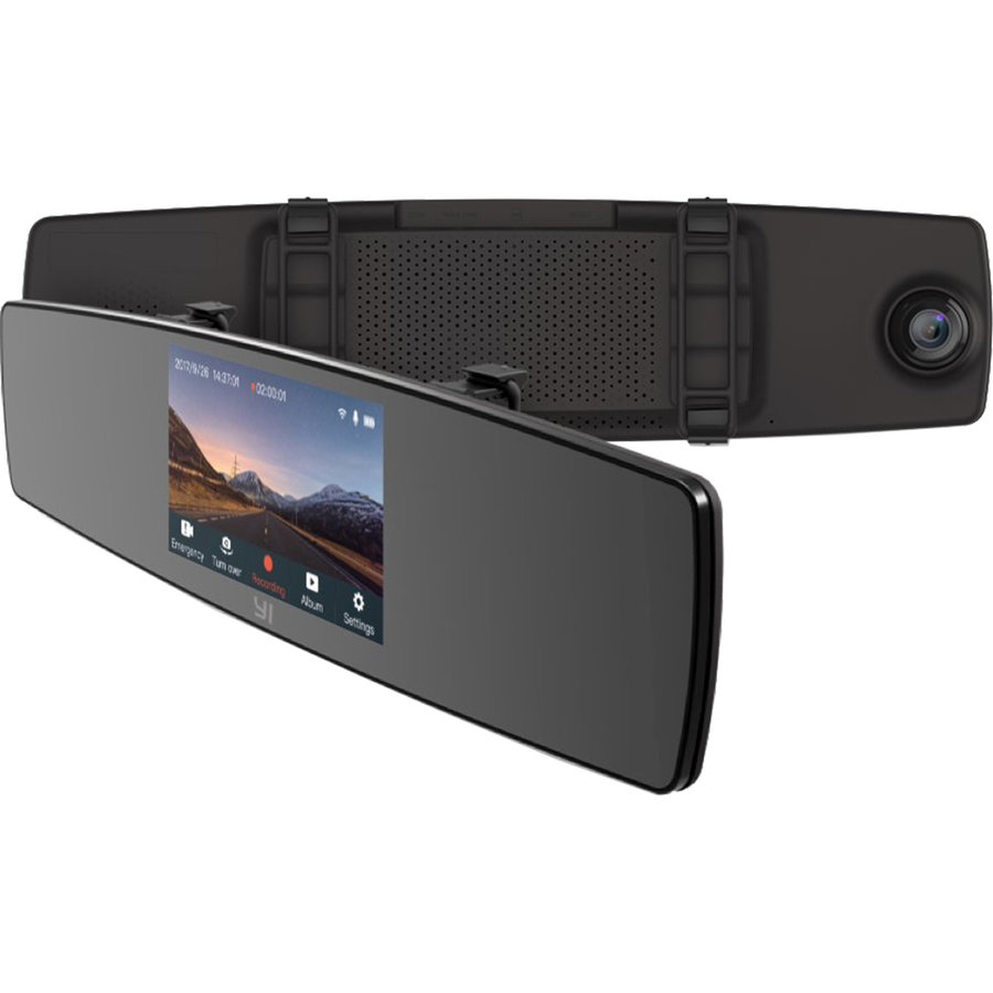 Camera video auto YI Mirror Dash Negru