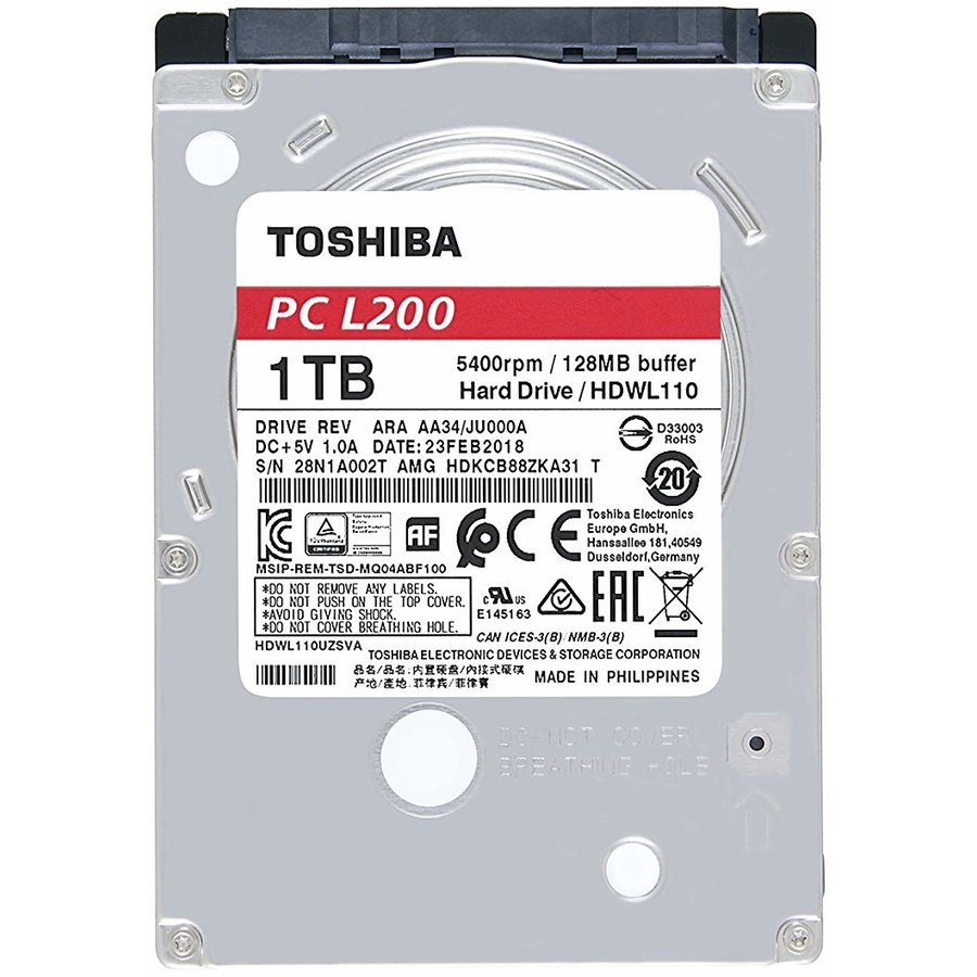 HDD Laptop L200 2,5'' 1TB SATA 5400RPM 128MB BULK