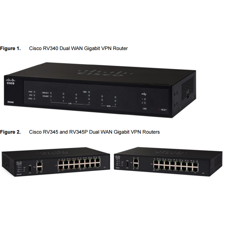 Router Cisco RV340 Dual WAN Gigabit VPN Router