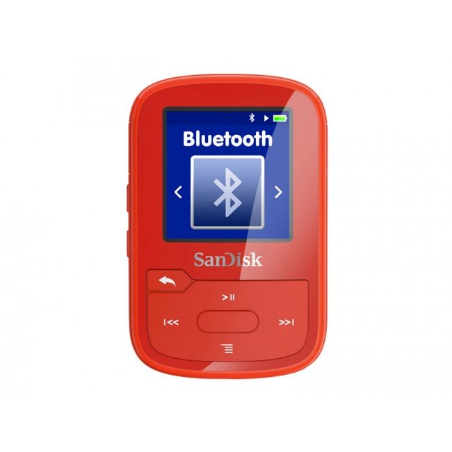 Player Sandisk MP3 16GB CLIP SPORT PLUS - red