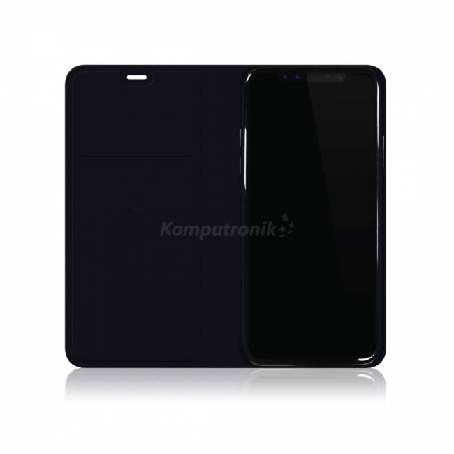 Material Pure Booklet pentru iPhone X Dark Navy