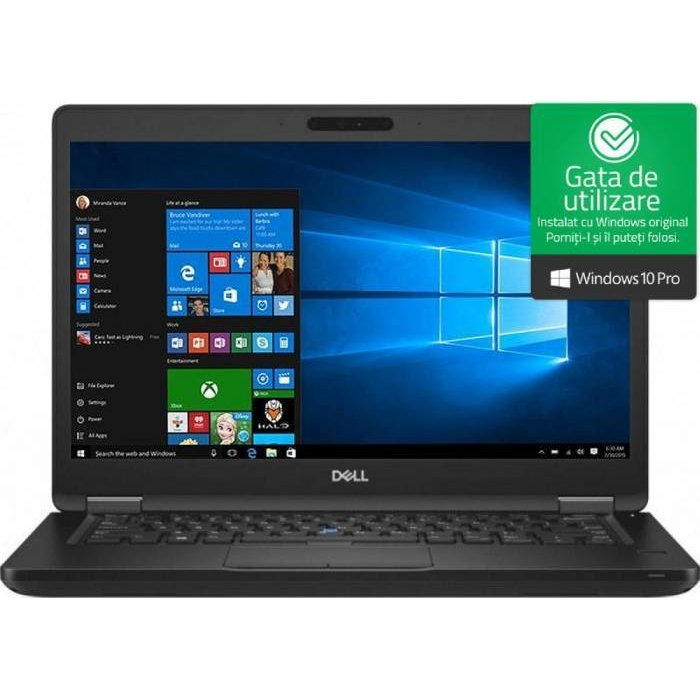 Notebook Latitude 5490 14 FHD i5-8250U 8GB 256GB UHD Graphics 620 Windows 10 Pro Black