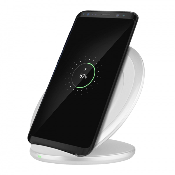 Incarcator universal wireless fast charger pad stand, alb