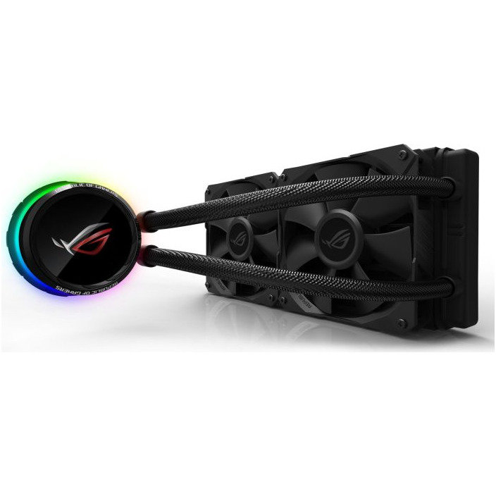 ROG Ryuo 240 all-in-one liquid CPU cooler, color OLED, Aura Sync, ROG 240mm fan