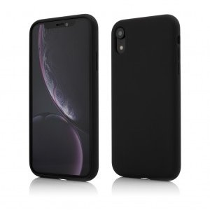 iPhone XR | Clip-On Soft Touch Silk Series | Black