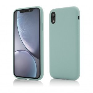 iPhone XR   Clip-On Soft Touch Silk Series   Green