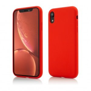 iPhone XR | Clip-On Soft Touch Silk Series | Red