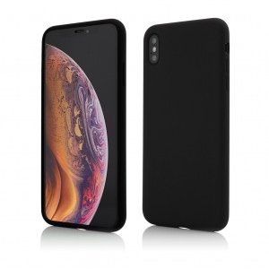 iPhone XS Max | Clip-On Soft Touch Silk Series | Black