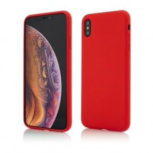 iPhone XS Max | Clip-On Soft Touch Silk Series | Red
