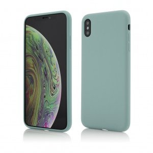 iPhone XS X | Clip-On Soft Touch Silk Series | Green