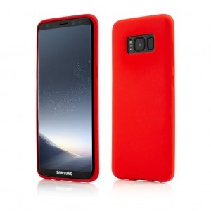 Samsung Galaxy S8 | Clip-On Soft Touch Silk Series | Red