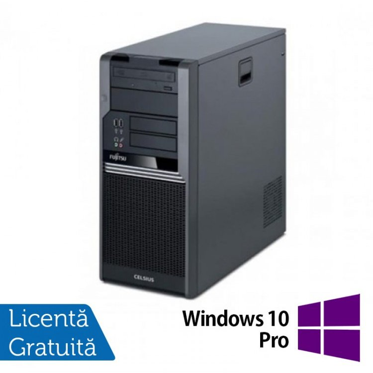 Fujitsu CELSIUS W280, Intel Core i3-530 2.93Ghz, 4Gb DDR3, 250Gb SATA, DVD-RW + Windows 10 Pro, Refurbished