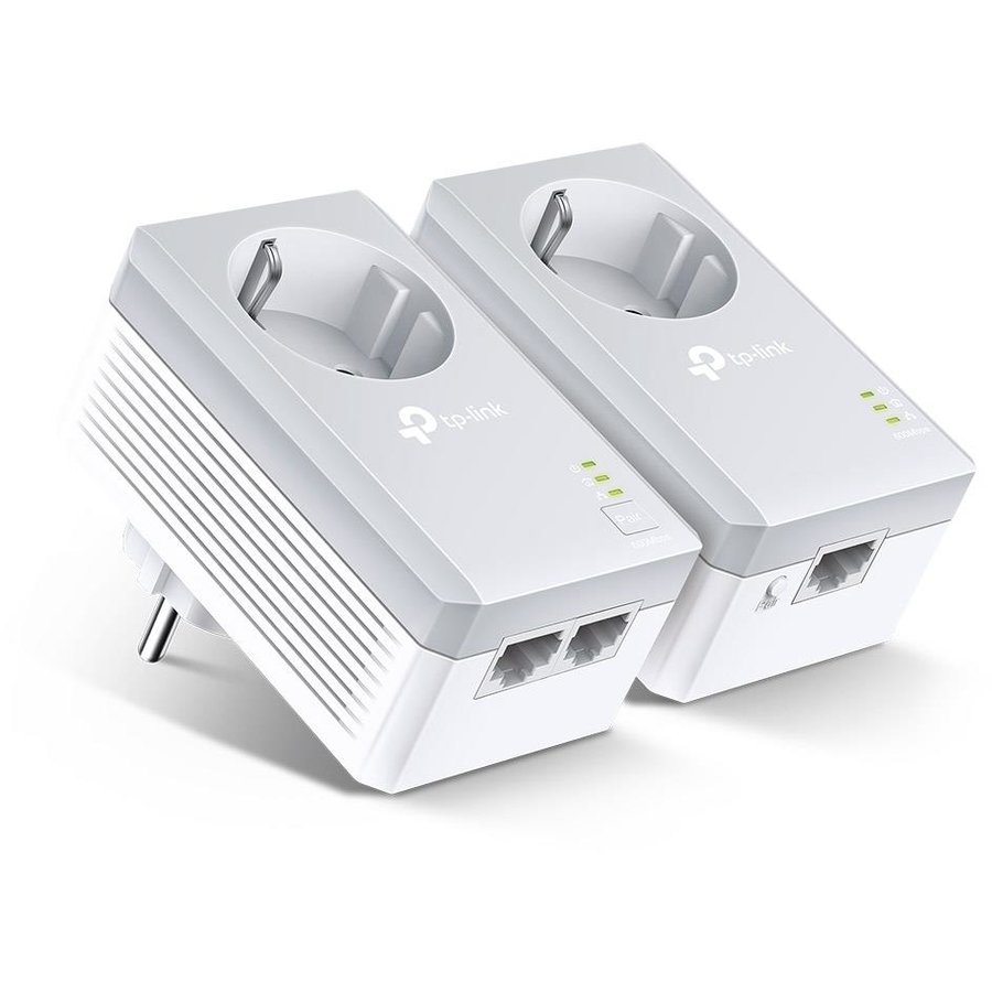 Adaptor PowerLan TL-PA4022P Kit, AV600 Passthrough, 600Mbps Powerline Twin Pack