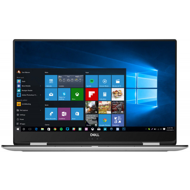 Notebook XPS 9575 15.6 FHD Touch i7-8705G 16GB 512GB AMD Radeon RX Vega M GL HMB2 4GB Windows 10 Pro Silver