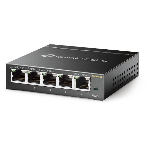 Switch TL-SG105S 5-Port Desktop Gigabit Ethernet Switch, Steel Case