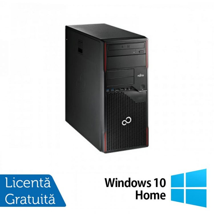 Esprimo P700 Tower, Intel Core i3-2120 3.30GHz, 4GB DDR3, 320GB SATA, DVD-ROM + Windows 10 Home, Refurbished