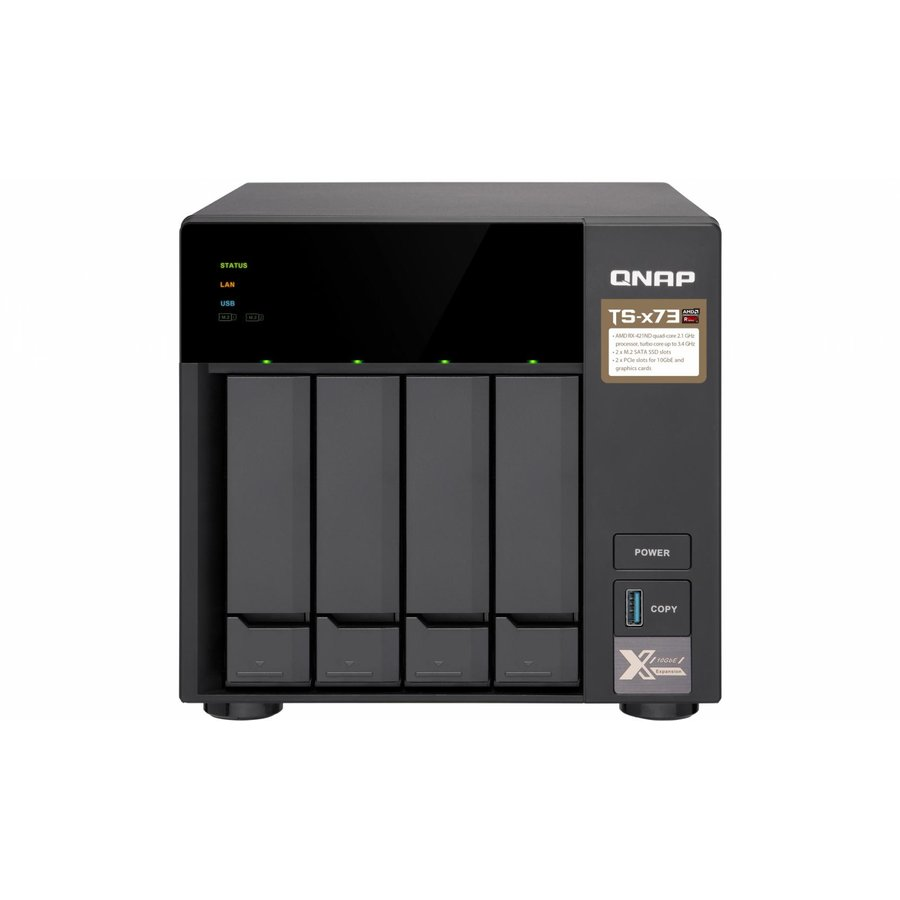 NAS QNAP NAS 4BAY TWR RX-421ND 2.1G 8GB 4LAN
