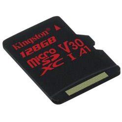 Card memorie Kingston microSDXC Canvas React 128GB 100/80 U3 UHS-I V30 A1 Single Pack w/o Adp