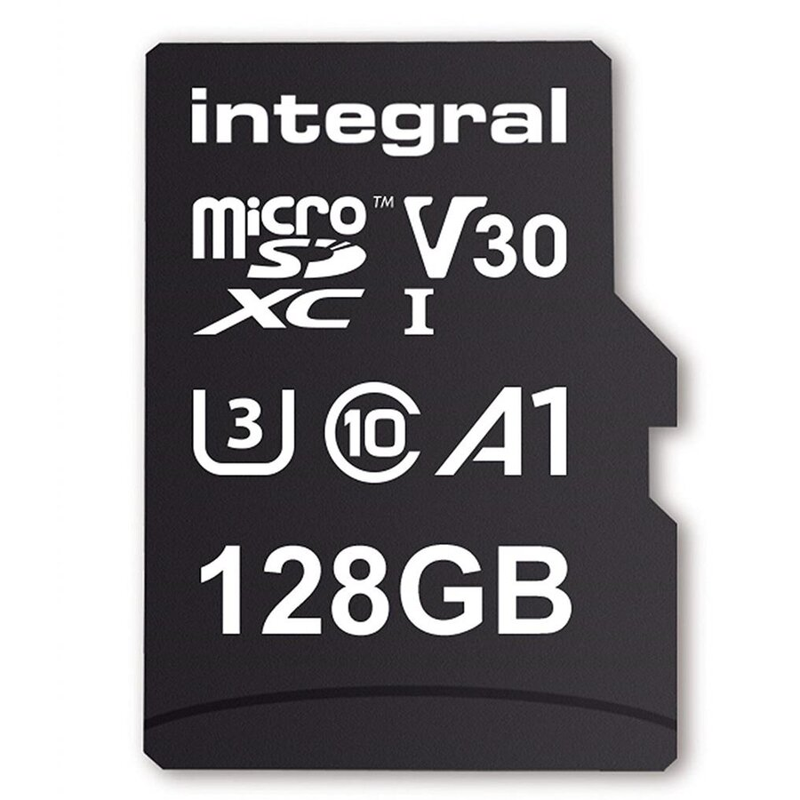 Card memorie Integral 128GB MICRO SDXC 90V30, R:100MB/s W:90MB/s U3 V30 + ADAPTER