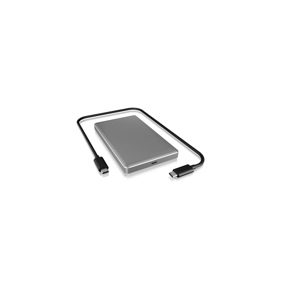HDD Rack IcyBox External enclosure for 2,5'' SATA HDD/SSD 9.5mm, USB 3.1 Type-C, Silver