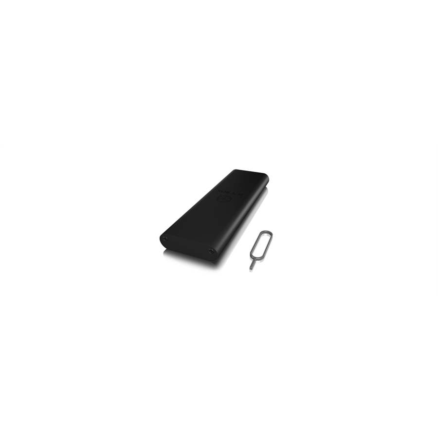 HDD Rack IcyBox External enclosure for M.2 SATA SSD, USB Type-C, write protection, Black