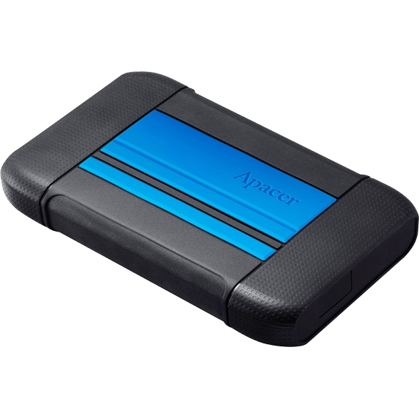 Hard disk extern External HDD Apacer AC633 2.5'' 1TB USB 3.1, shockproof military grade, Blue