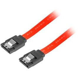 Lanberg cable SATA DATA II (3GB/S) F/F 100cm; METAL CLIPS RED
