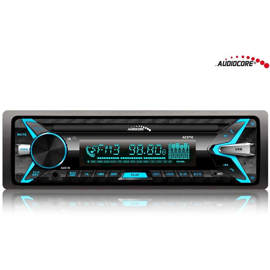 Sistem auto AC9710 Car Stereo MP3/WMA/USB/RDS/SD ISO Panel Bluetooth Multicolor