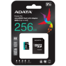 Card memorie ADATA 256GB Premier Pro MICROSDXC, R/W up to 100/80 MB/s, with Adapter